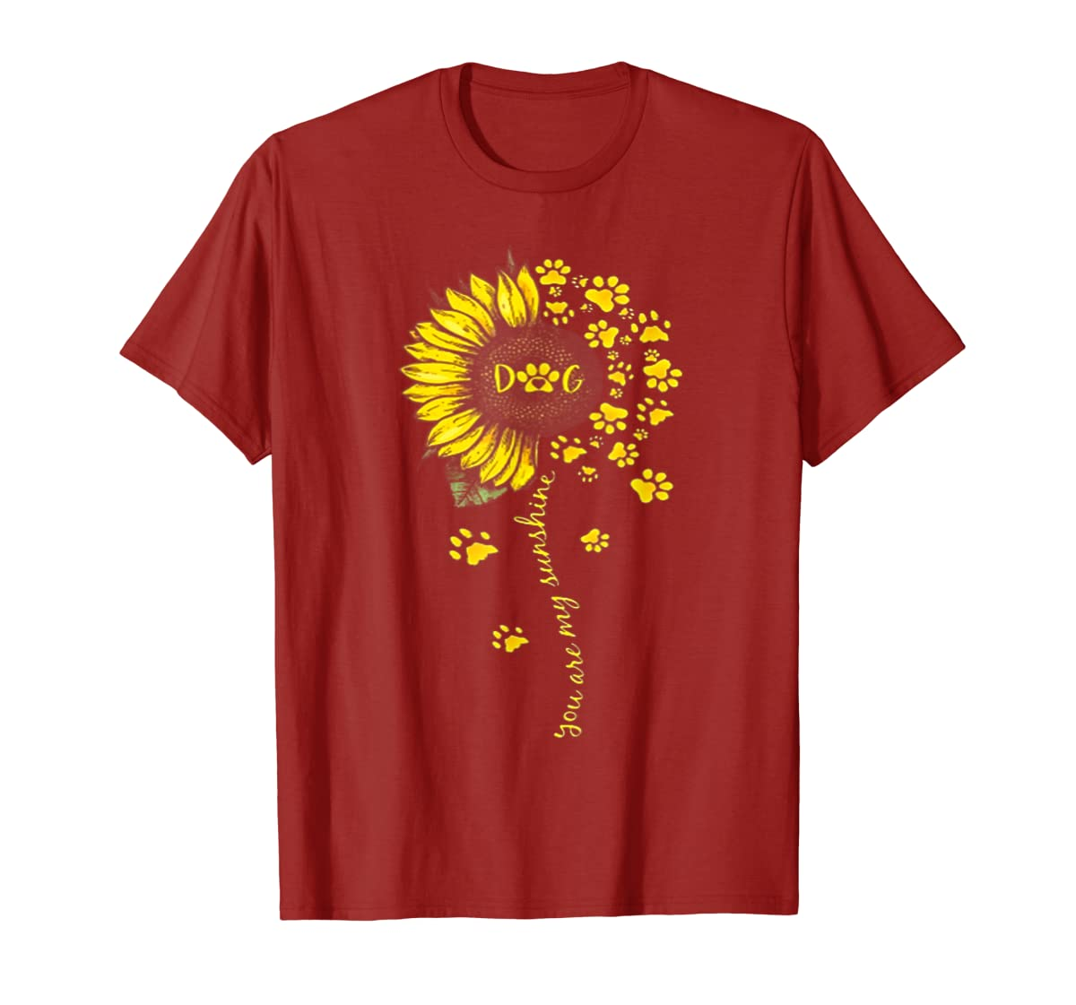 You Are My Sunshine Dog Tshirt-Men's T-Shirt-Red