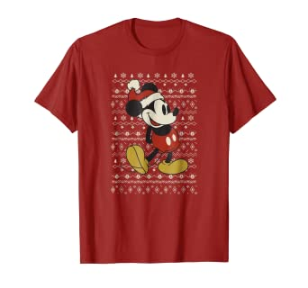 5dea1e614 Image Unavailable. Image not available for. Color  Disney Vintage Mickey  Mouse Christmas T-Shirt