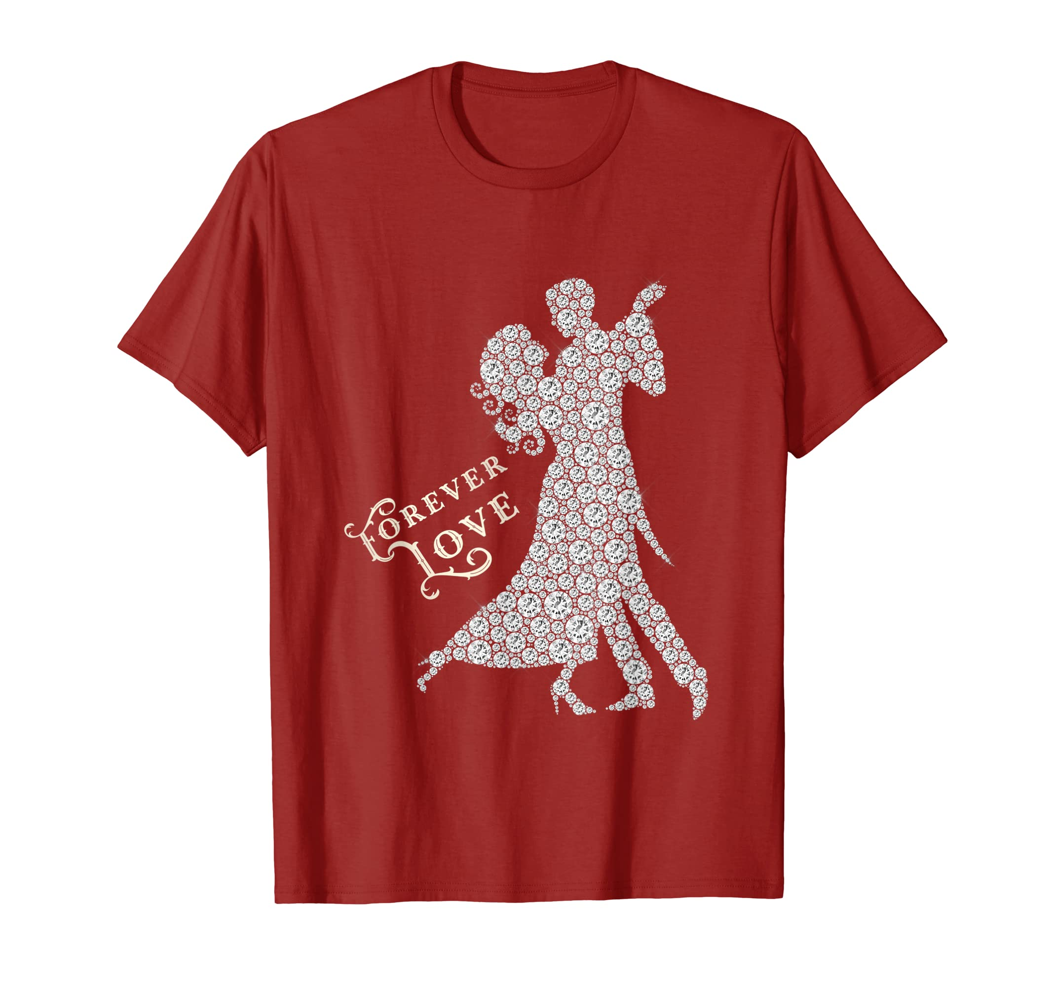 Forever Love Waltz Dance Valentines Day T-shirt