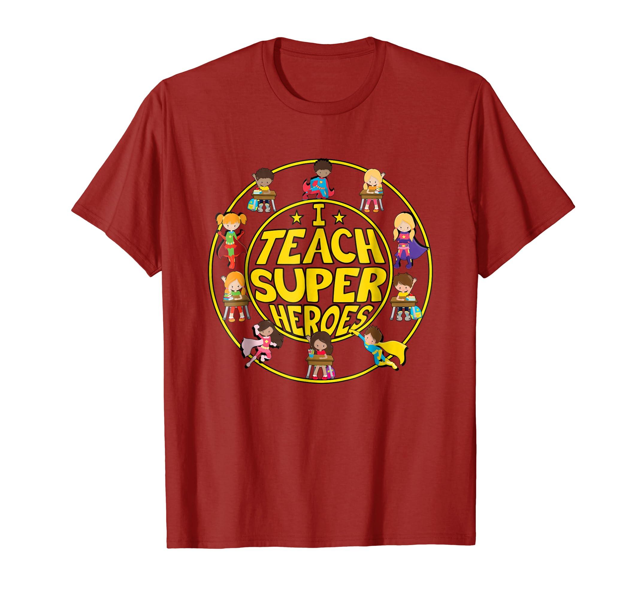 Superhero Teacher T-shirt – I Teach Super Heroes-Yolotee