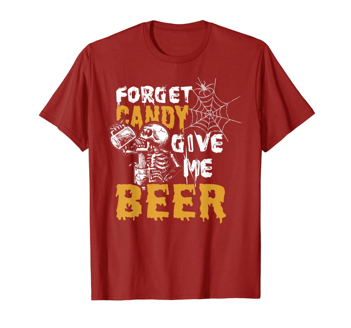 Forget Candy Give me Beer shirt Halloween Shirt gifts T-Shirt-Men's T-Shirt-Red