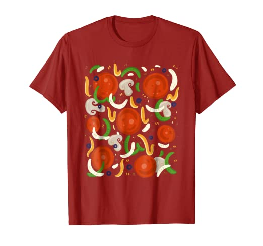 28cbde9428a2 Image Unavailable. Image not available for. Color: Supreme Pizza Costume  Shirt - Halloween Pizza Toppings
