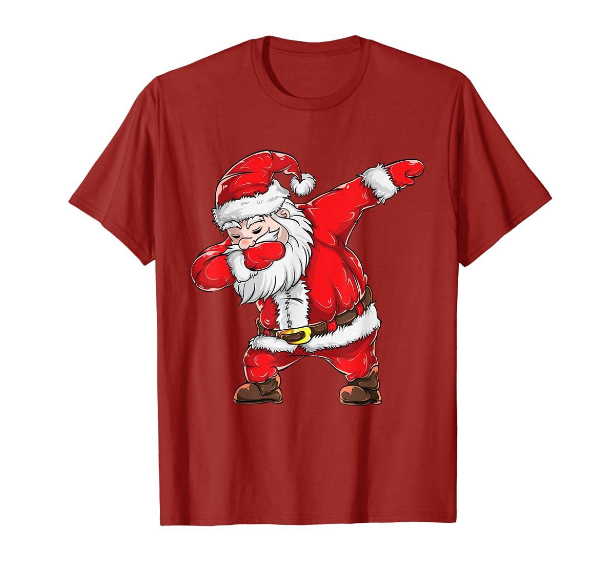 Dabbing Santa Claus Christmas Kids Boys Girls Dab Xmas Dance T-Shirt-Men's T-Shirt-Red
