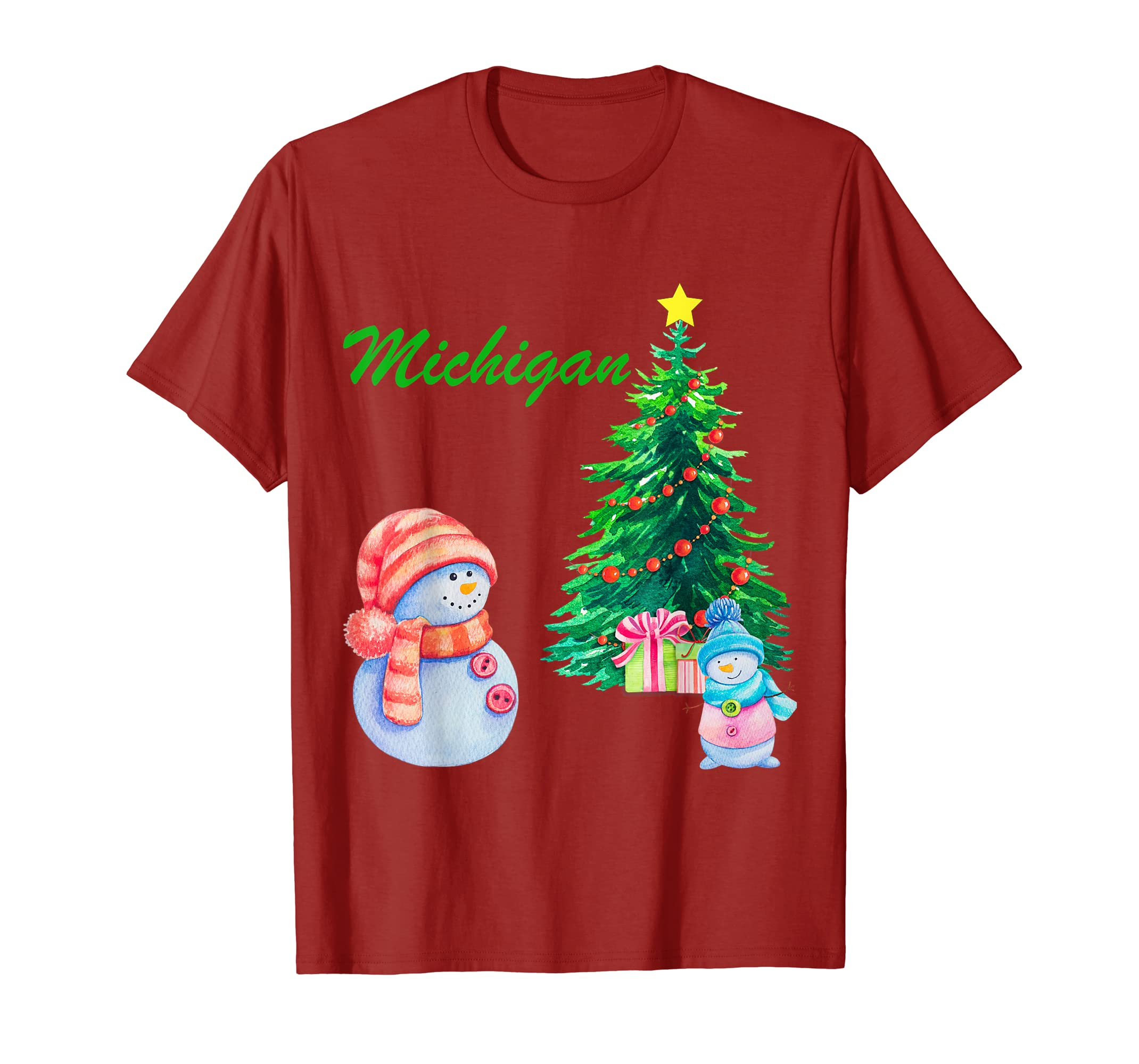 Christmas Michigan.Amazon Com Michigan Snowman Merry Christmas Mi Ugly