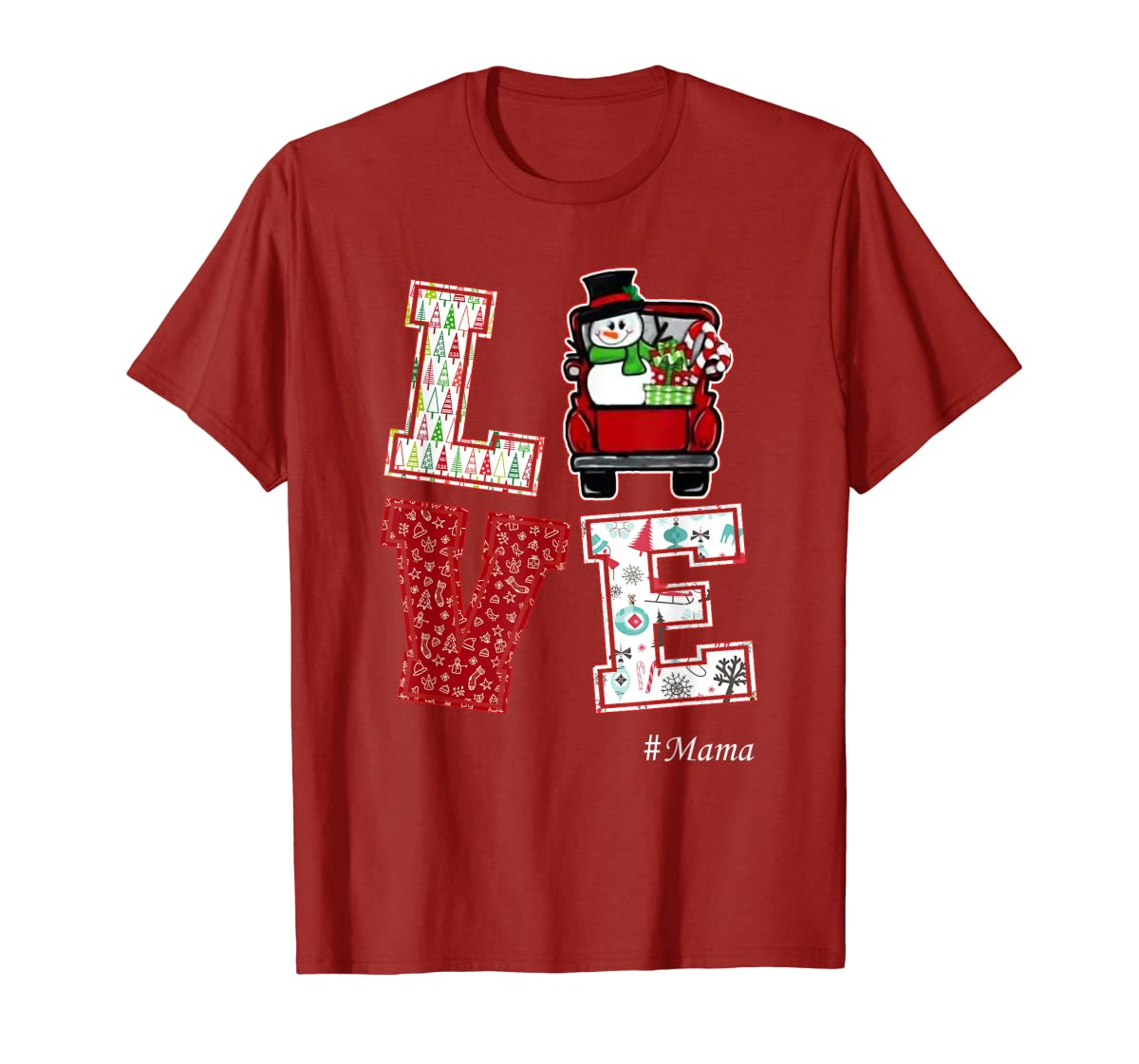 Christmas Love #Mama T-Shirt-Men's T-Shirt-Red