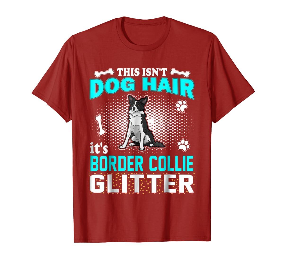 This Isn't Dog Hair It's Border Collie Glitter T-Shirt-Men's T-Shirt-Red