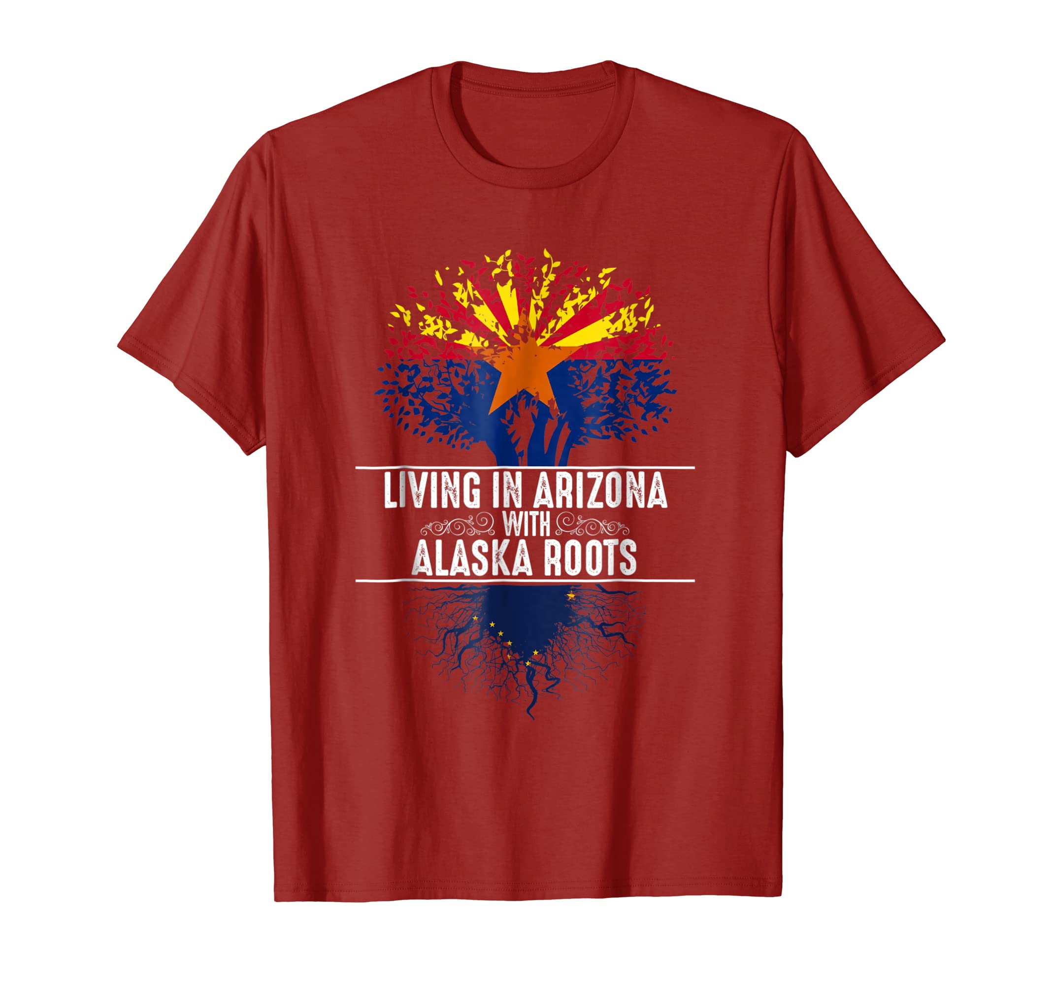 Arizona Home Alaska Roots State Tree Flag Shirt Love Gift-SFL