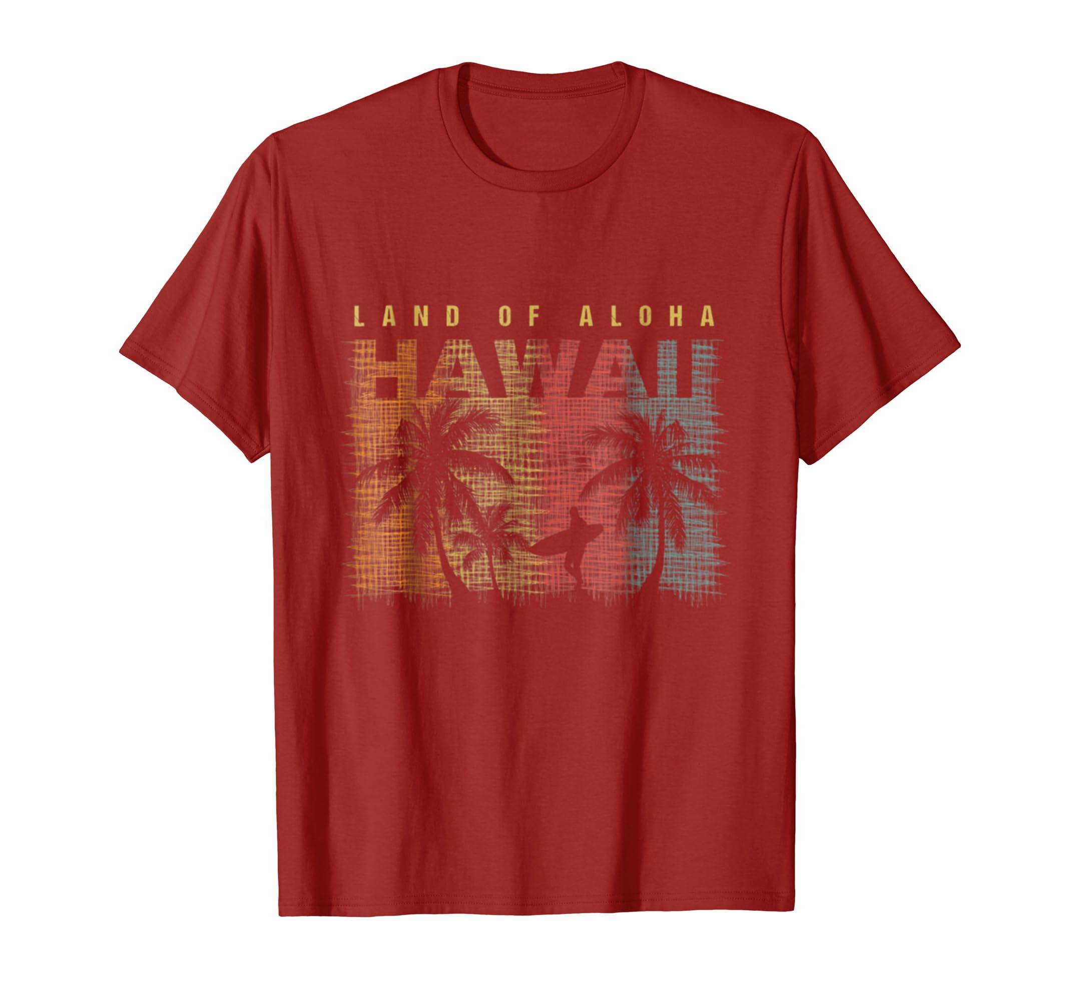 decb43ef Amazon.com: Vintage Hawaiian Islands Tee Hawaii Aloha State T-Shirt:  Clothing
