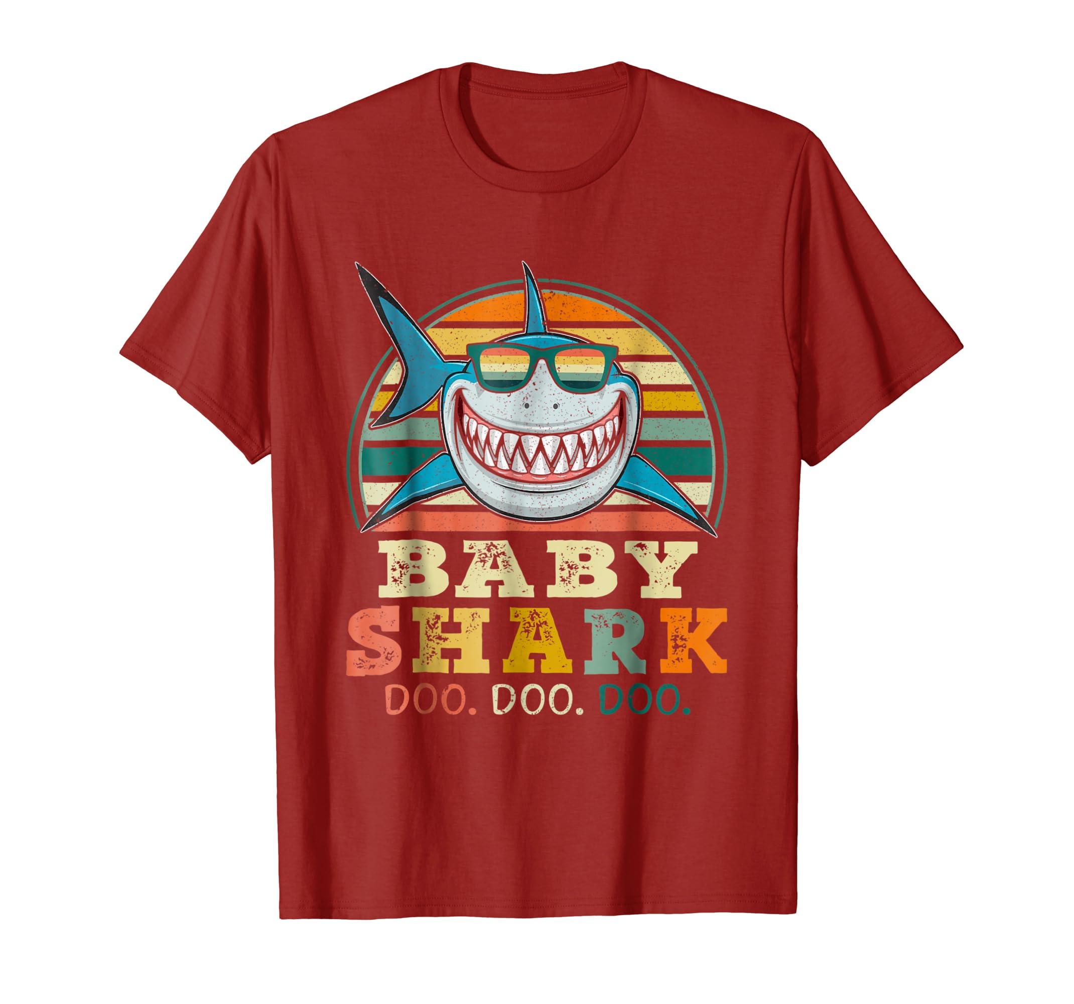 0a7d955b Retro Vintage Baby Shark TShirt Halloween Costume Gift-Teechatpro ...