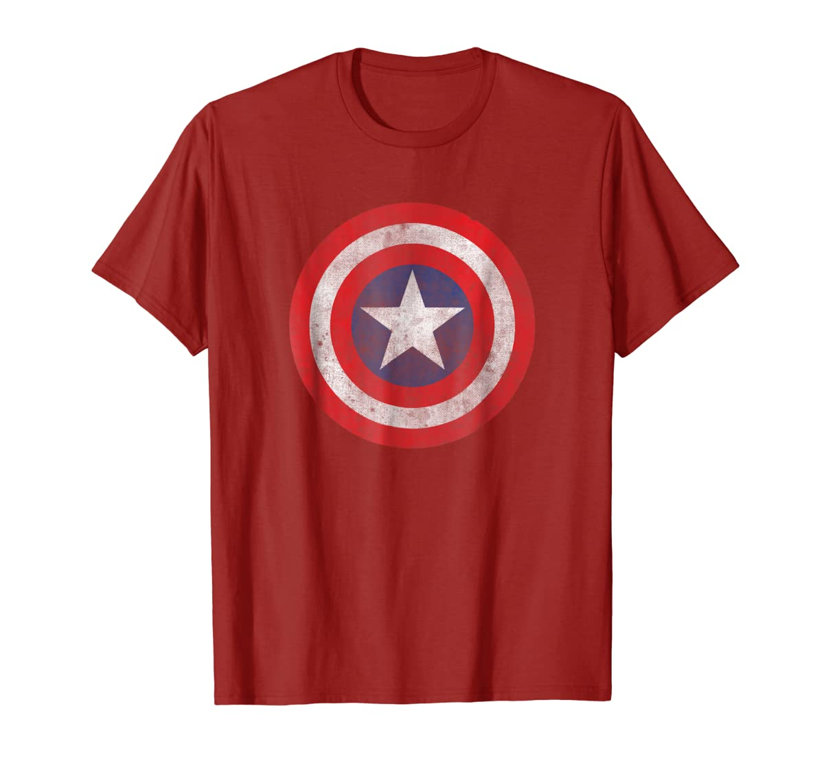 Marvel Captain America Classic Shield Graphic T-Shirt-Men's T-Shirt-Red