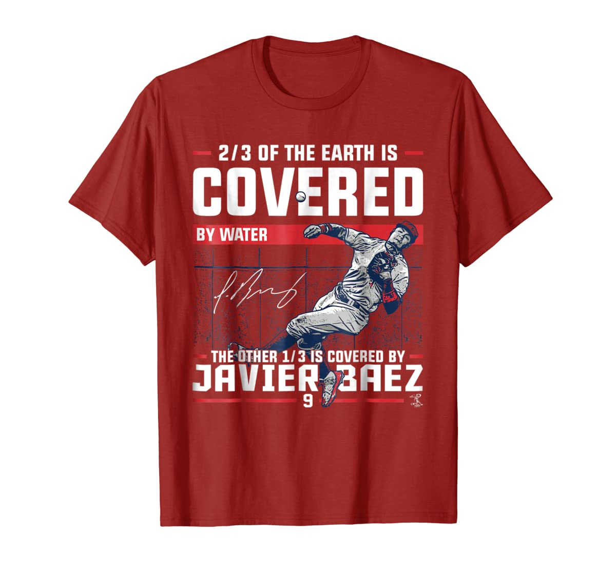 Javier Baez Covered By T-Shirt - Apparel-Men's T-Shirt-Red