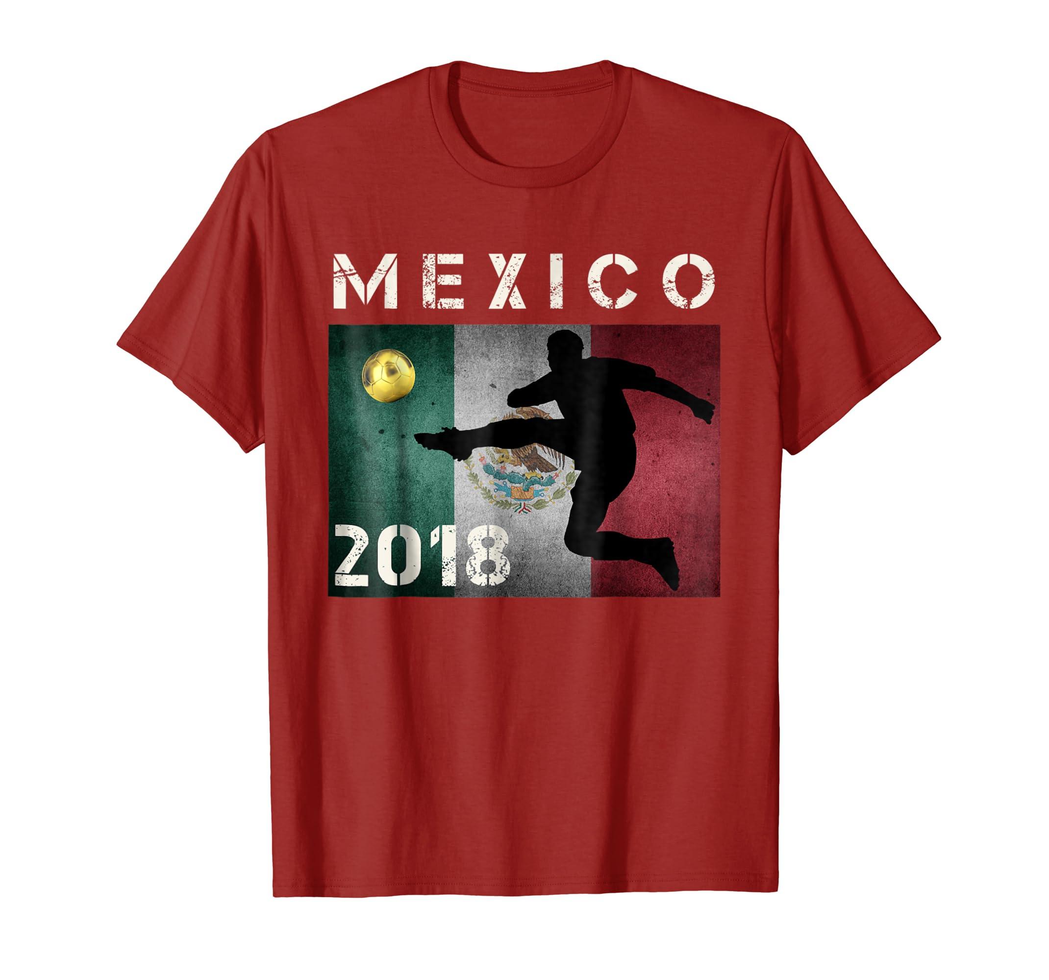cf42395ec MEX Mexico World Soccer Jersey 2018 T-Shirt Cup Fan Shirt-prm – Paramatee