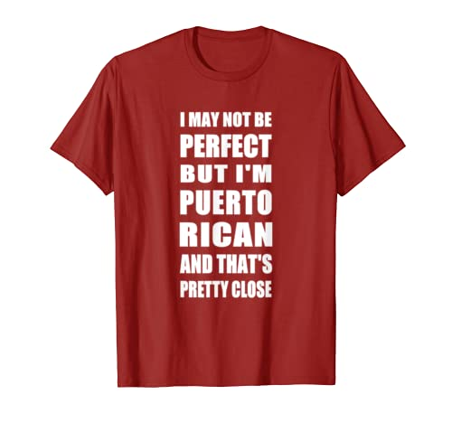 3565b922 Amazon.com: I may not be Perfect but I'm Puerto Rican funny tshirt: Clothing