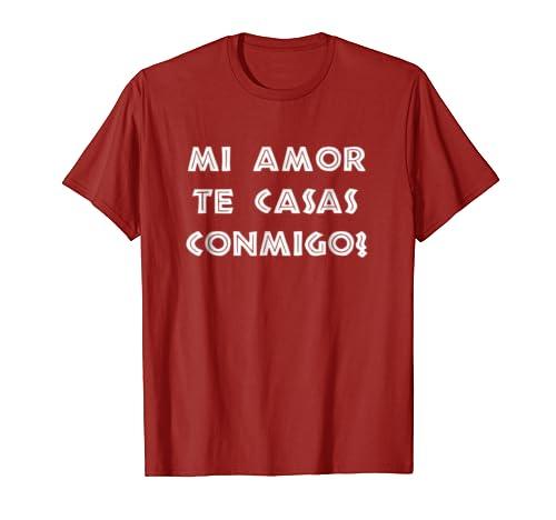 Amazon.com: Mens Camisetas playeras para pedir matrimonio Hombre Te casas con: Clothing