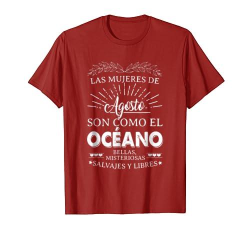 Amazon.com: Mujeres De Agosto Son como el Oceano Cumpleanos Camisetas: Clothing