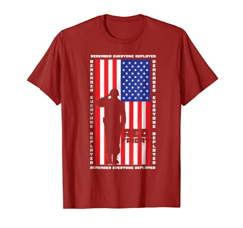 Remember Everyone Troops Deployed RED Friday USA Flag Shirt