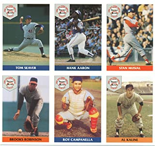 1992 Front Row All-Time Greats Uncut Sheet with Aaron, Musial, Campanella, Seaver, Kaline and B. Robinson - Baseball Cards