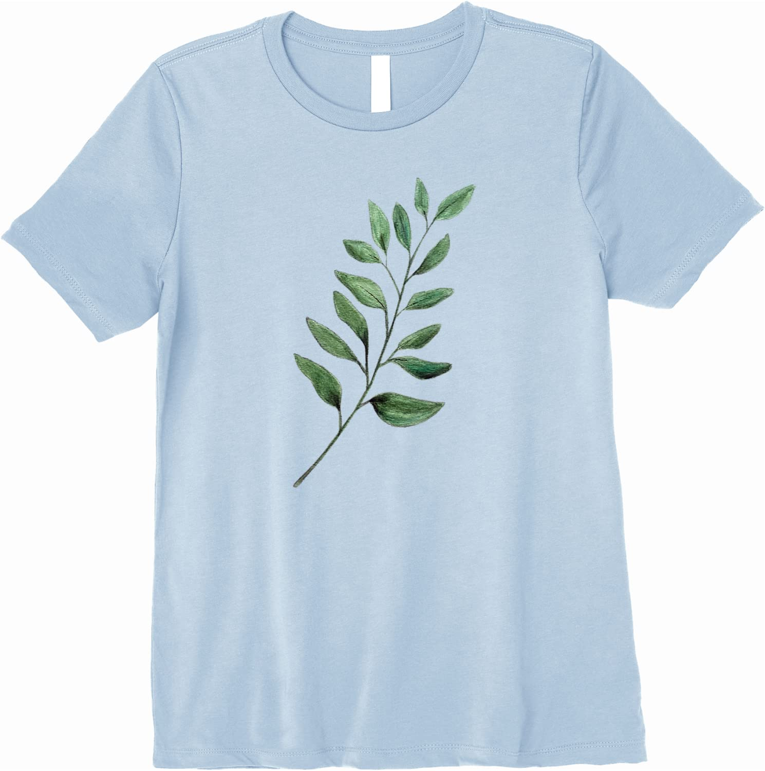 Blue Plant Leaves Leaf Name youth Personalized Gift Cute Unisex Shirt Toddler Kids Child Childrens Clothing Clothes Tshirt gift Baby shirts