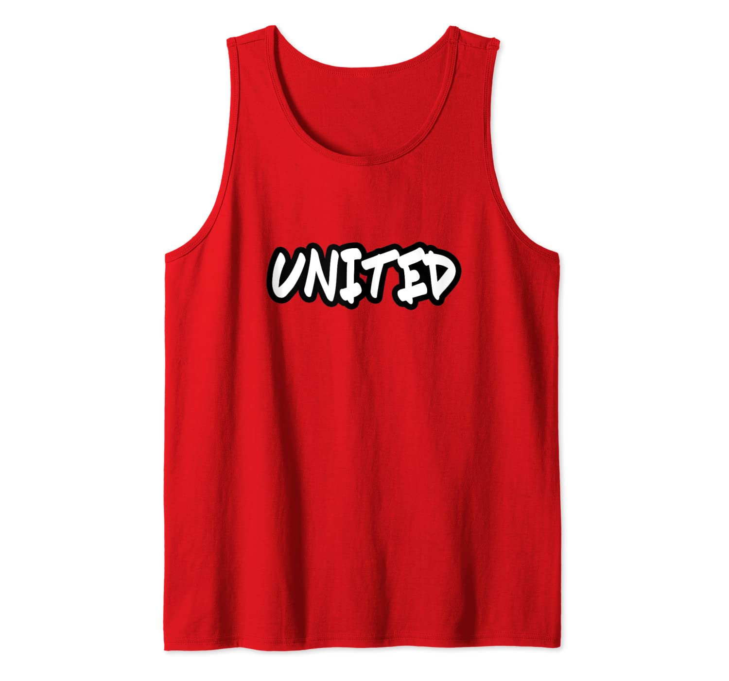 Manchester England Soccer Football Fan Jersey Style United Tank Top