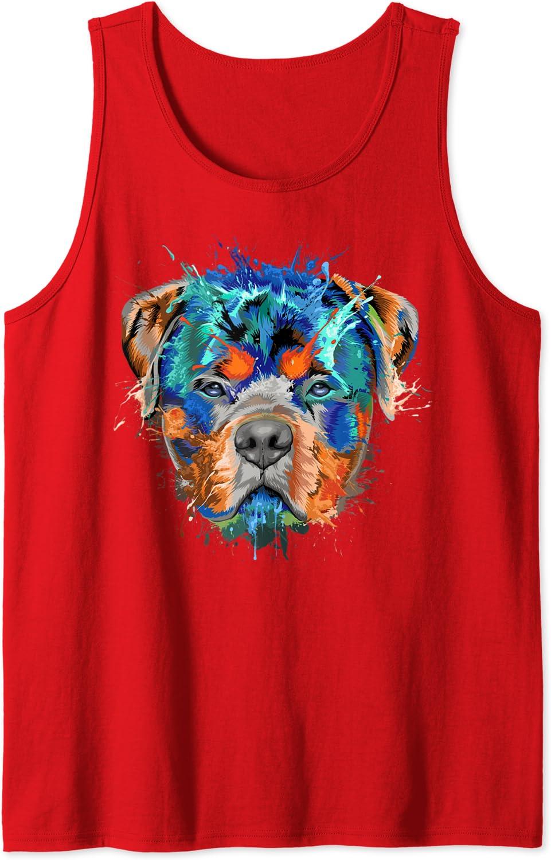 Salpicadura de Rottweiler Camiseta sin Mangas: Amazon.es ...