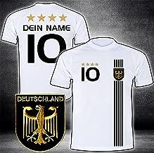 + Name grün Nr EM 2016 Fußball Deutschland  KINDER  T-Shirt Trikot