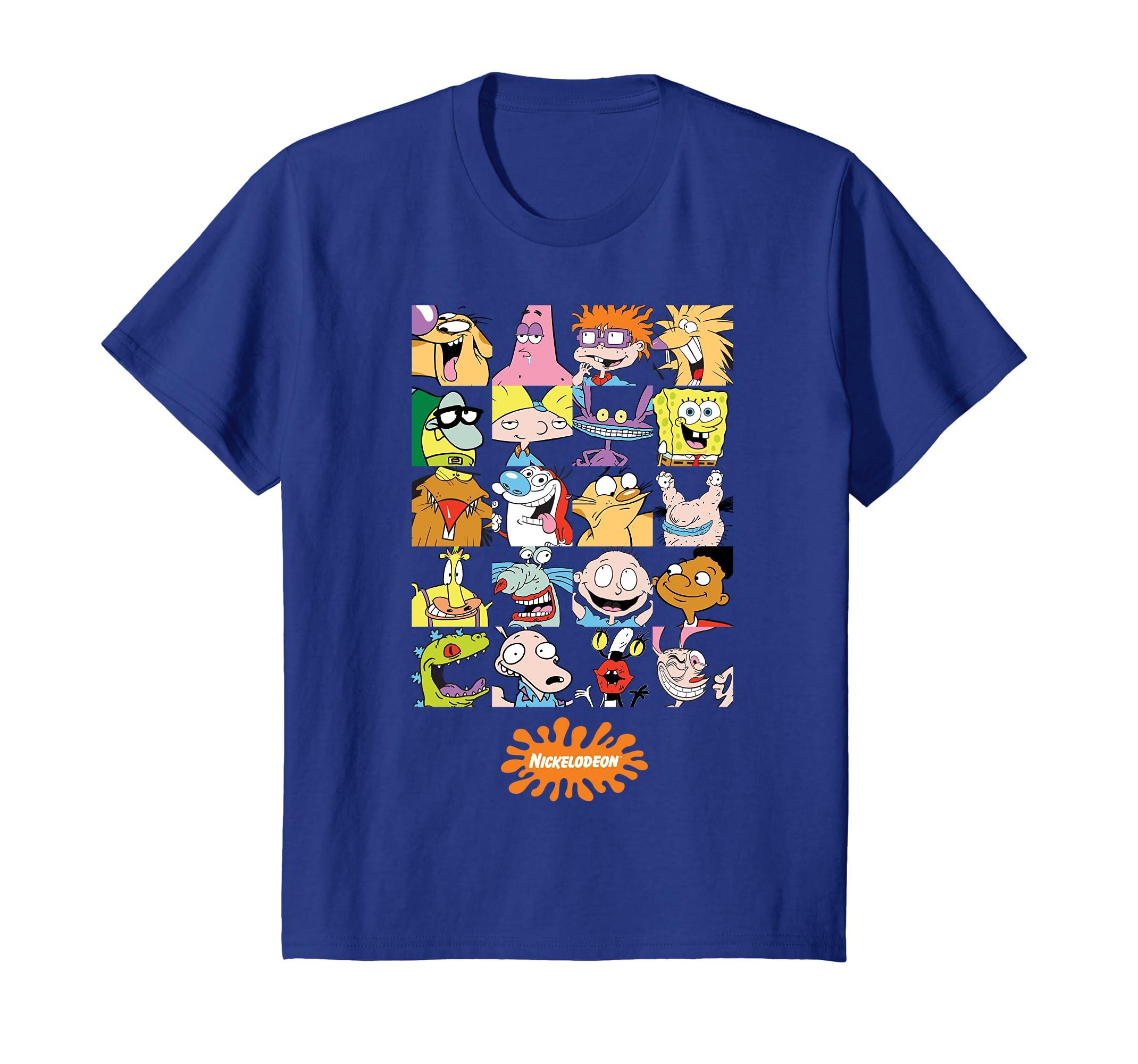 Nickelodeon Classic Nick 90s Character Block T-Shirt