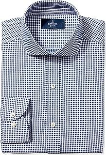 Amazon Brand - BUTTONED DOWN Men's Slim Fit Check Dress Shirt, Supima Cotton Non-Iron