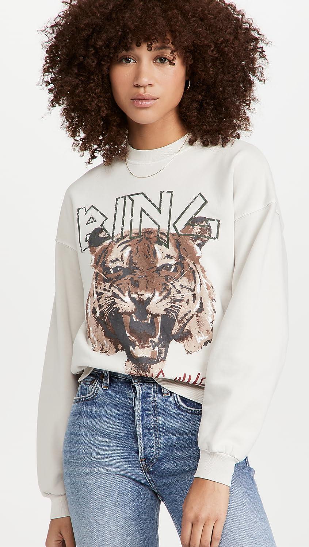 ANINE BING Women's Tiger Sweatshirt