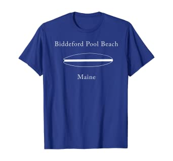 Amazon Com Biddeford Pool Beach Maine Surfboard T Shirt Clothing