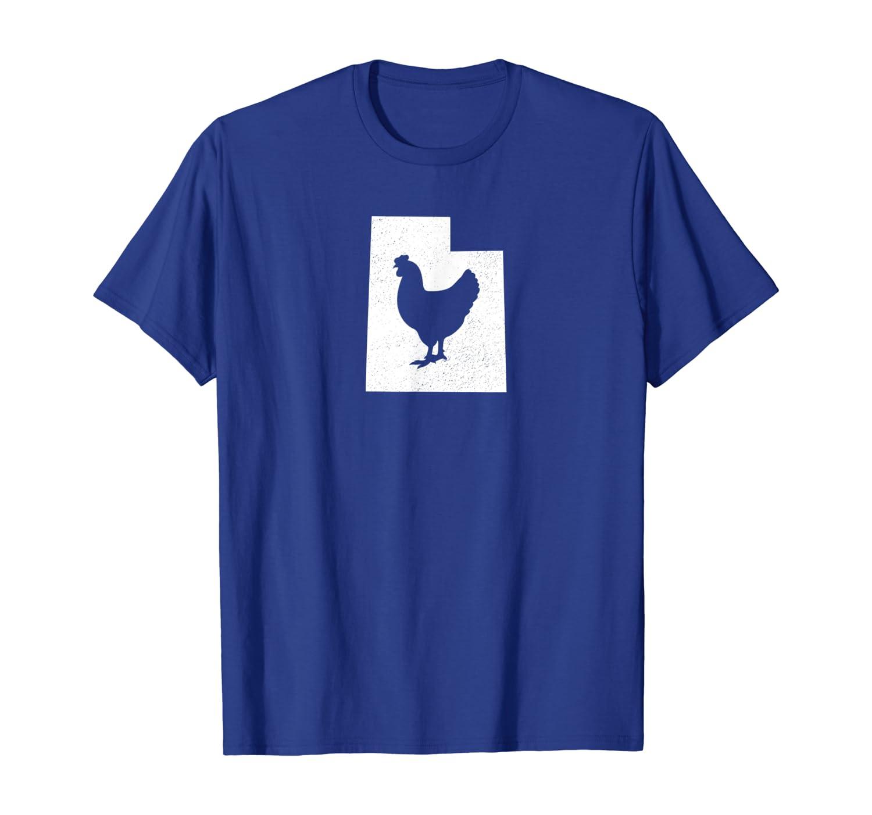 Utah Chicken T Shirt Poultry Farmer Gift Ut State Map Unisex Tshirt