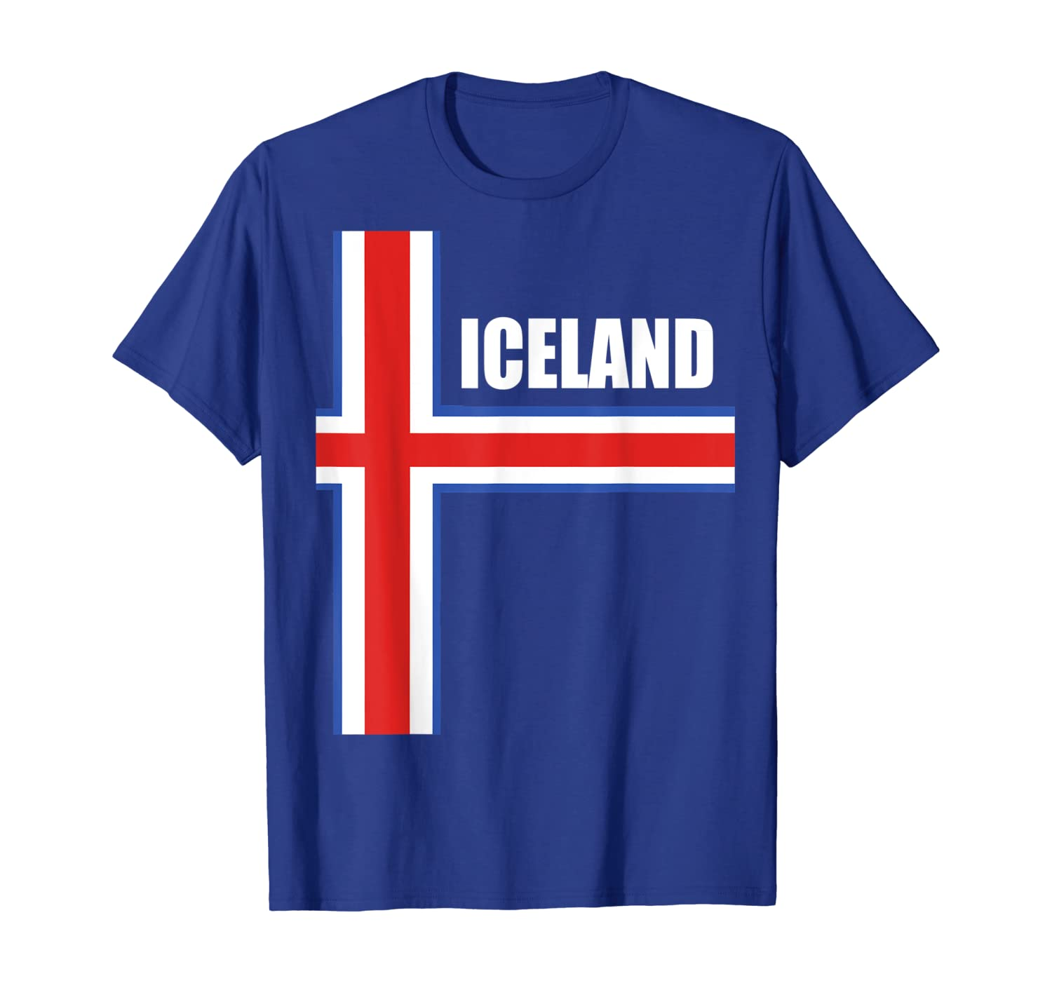 Iceland Soccer Jersey Style Flag Fan Icelandic Team National T-Shirt