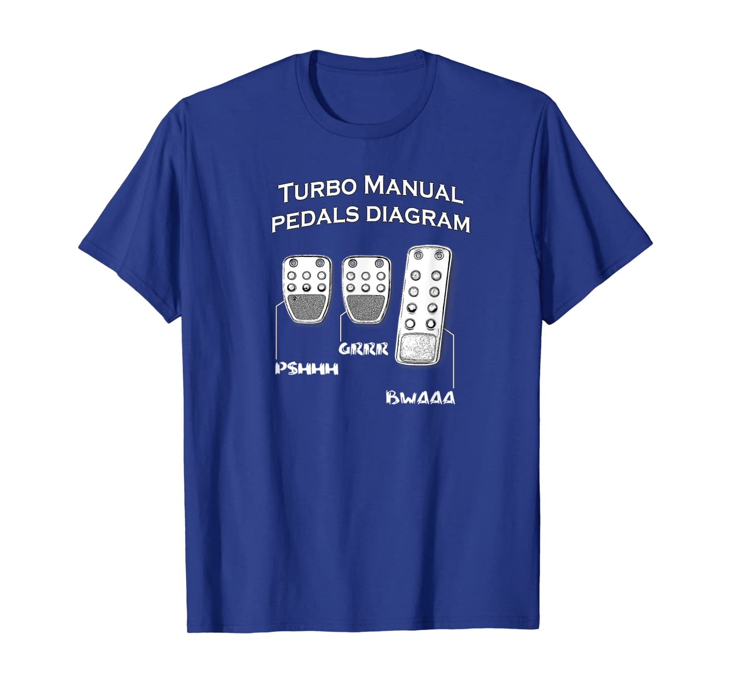 Turbo Manual Pedals Diagram Car Enthusiast T-Shirt
