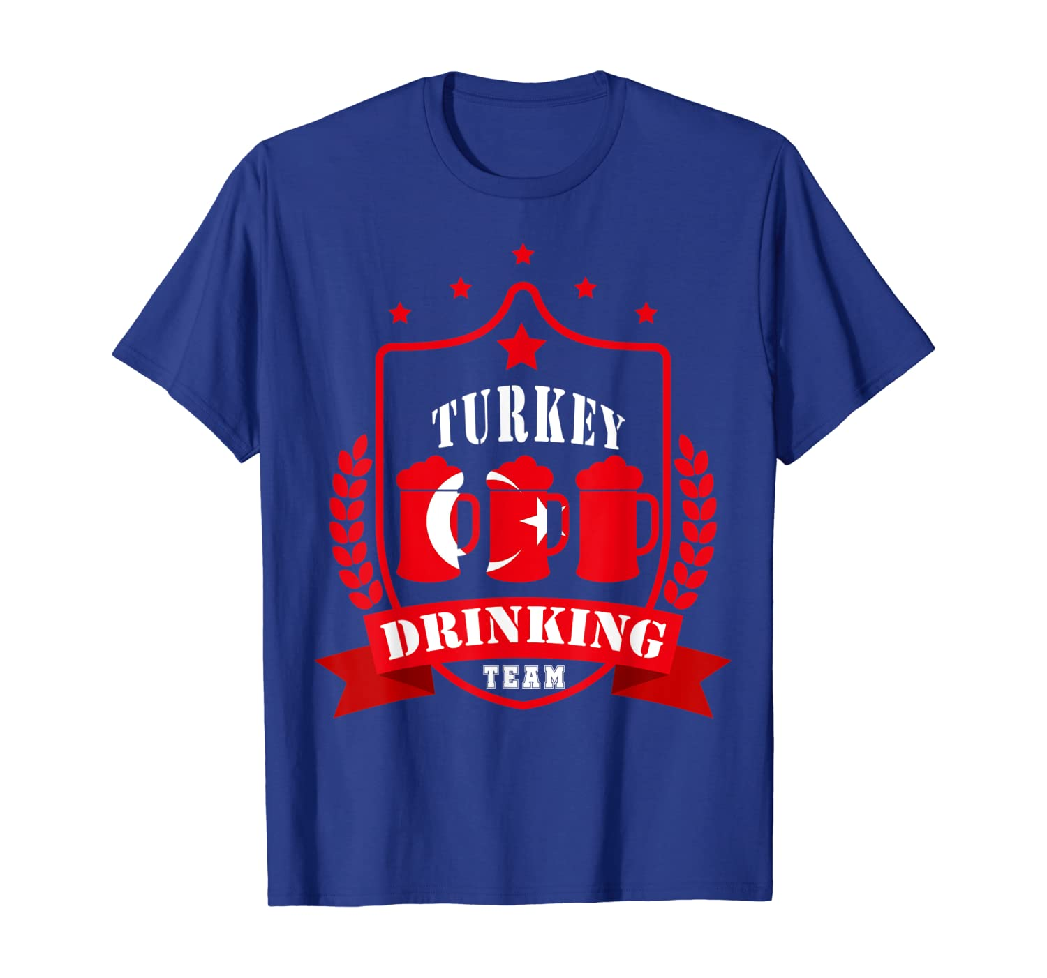 Beer Turkey Drinking Team Casual Turkey Flag T-shirt Unisex Tshirt
