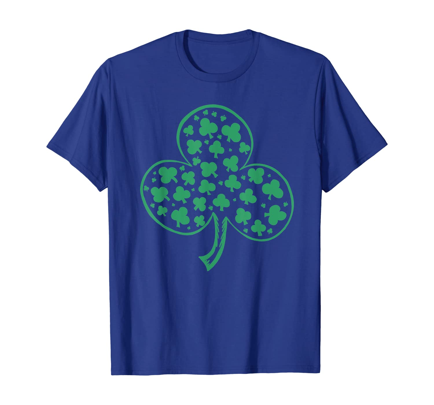 Shamrock Green Clover Irish Lucky St Patrick's Day Gift T-Shirt-Awarplus