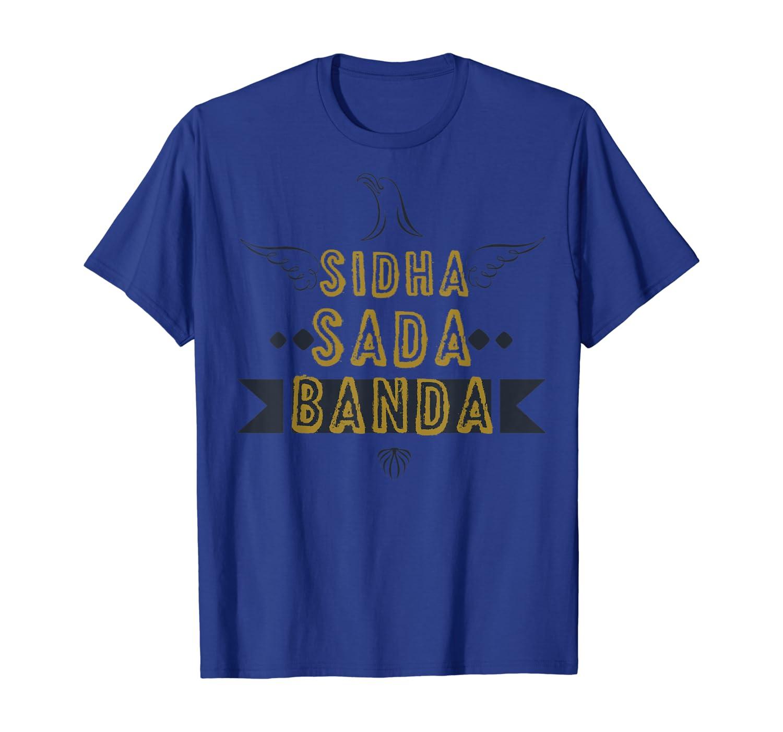 Amazon.com: SIDHA SADA BANDA Funny Desi Tshirt, Popular ...
