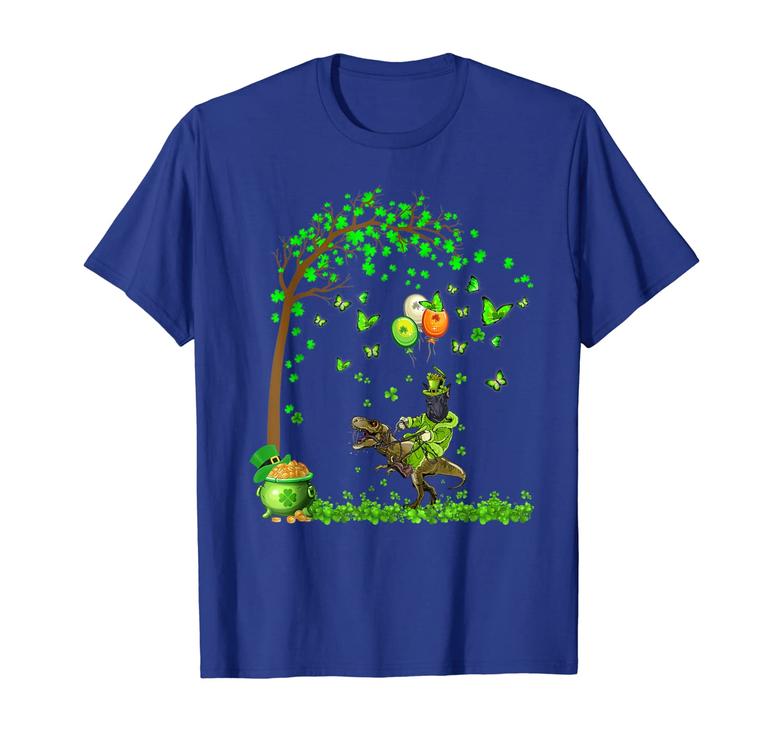 Great Dane Riding Dinosaur Tree Patricks Day Gift T-shirt Unisex Tshirt