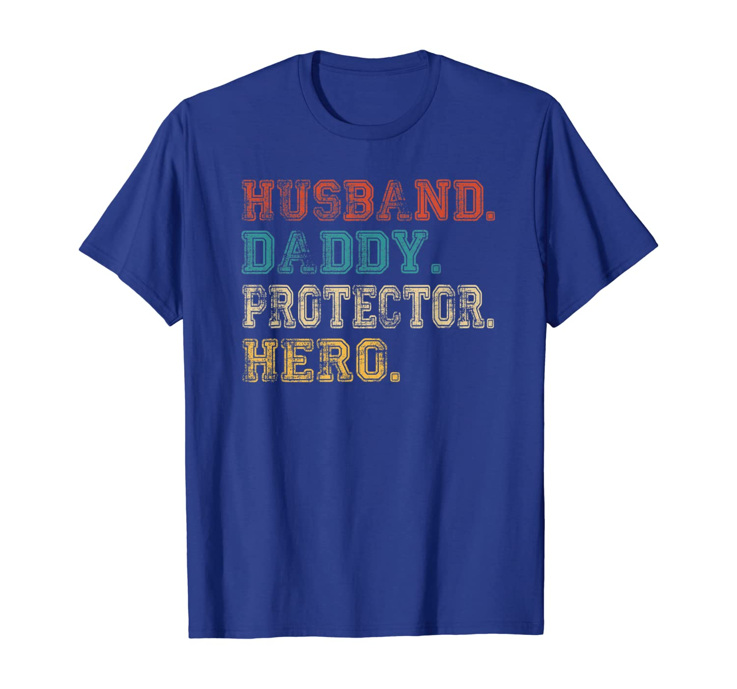 Husband Daddy Protector Hero Shirt Fathers Day Gift Dad Son - Dad Tshirt Up To 5xl