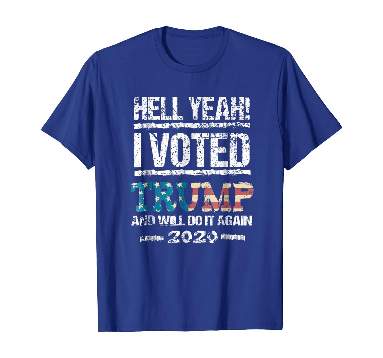 Trump 2020 Shirt I Voted Trump Flag Tee MAGA Shirt Unisex Tshirt