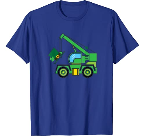Shamrock Tow Truck Toy Funny Cute St Patricks Day Gifts Kids T Shirt