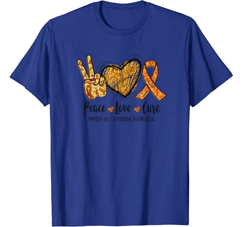 Peace Love Cure Prader Willi Syndrome Awareness Funny Gift T Shirt