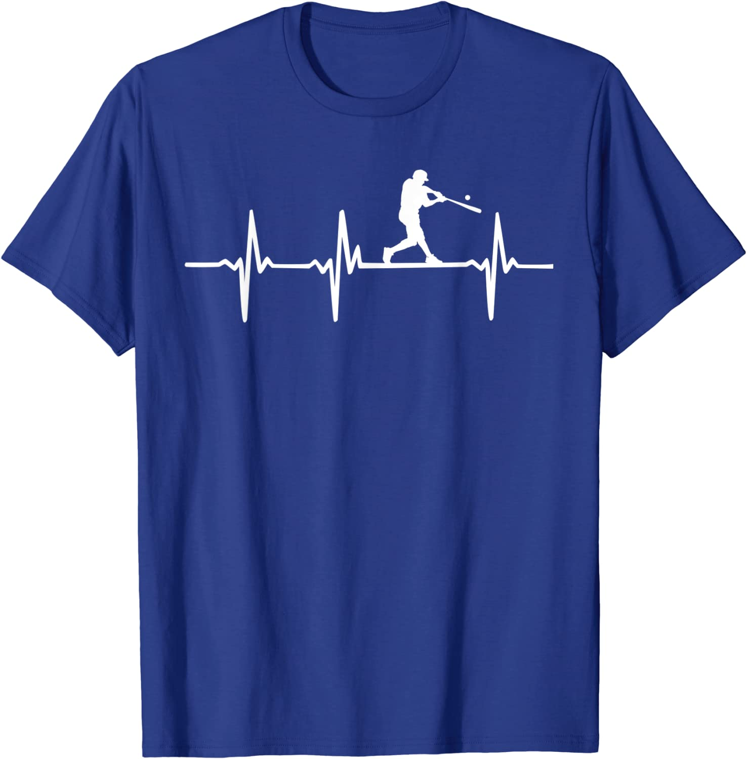 Baseball Heartbeat T-Shirt For Baseball Players And Fans-TH