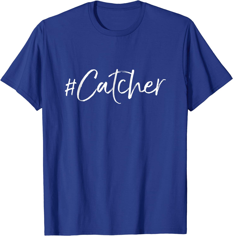 Hashtag Catcher T-Shirt Funny Softball Gift Shirt-ANZ