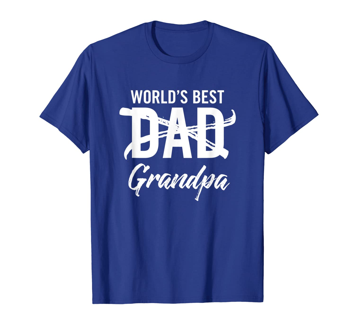 Mens World's Best Dad Grandpa Shirt father Pregnancy Announcement-TH