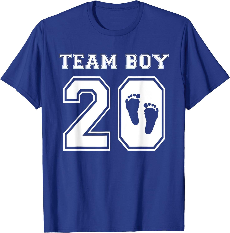 Team Boy 2020 Gender Reveal Ranking TOP12 Shower Adoption T-Shir Indefinitely Baby Gift