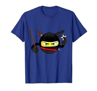 Amazon.com: Holiday Deals Ninja Emoticon Funny Emoji Shirt ...