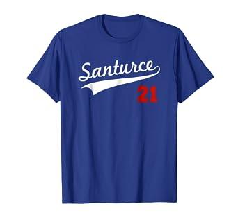 best service 27431 08fa0 Santurce 21 Baseball Shirt Puerto Rico T-Shirt for Women Men