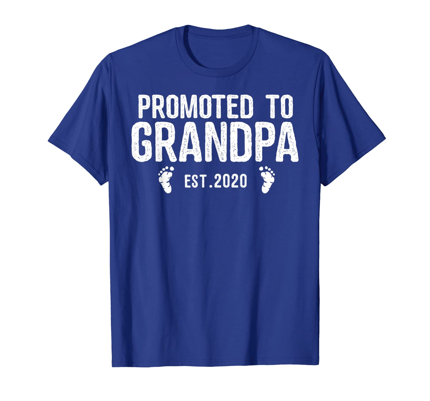 Promoted To Grandpa Est 2020 New Gift For Dad T-Shirt-TH