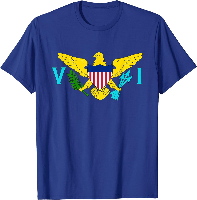 US Virgin Islands State Flag University of Virgin  American Unisex Youth Shirts