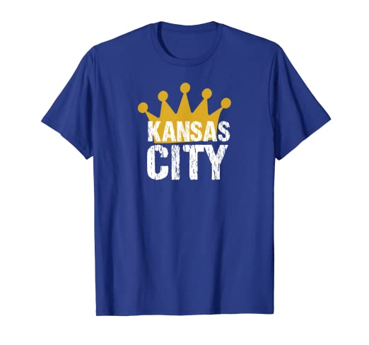 779e5b2e283d10 Amazon.com: KC Royal Blue Kansas City Crown Town Vintage Style: Clothing