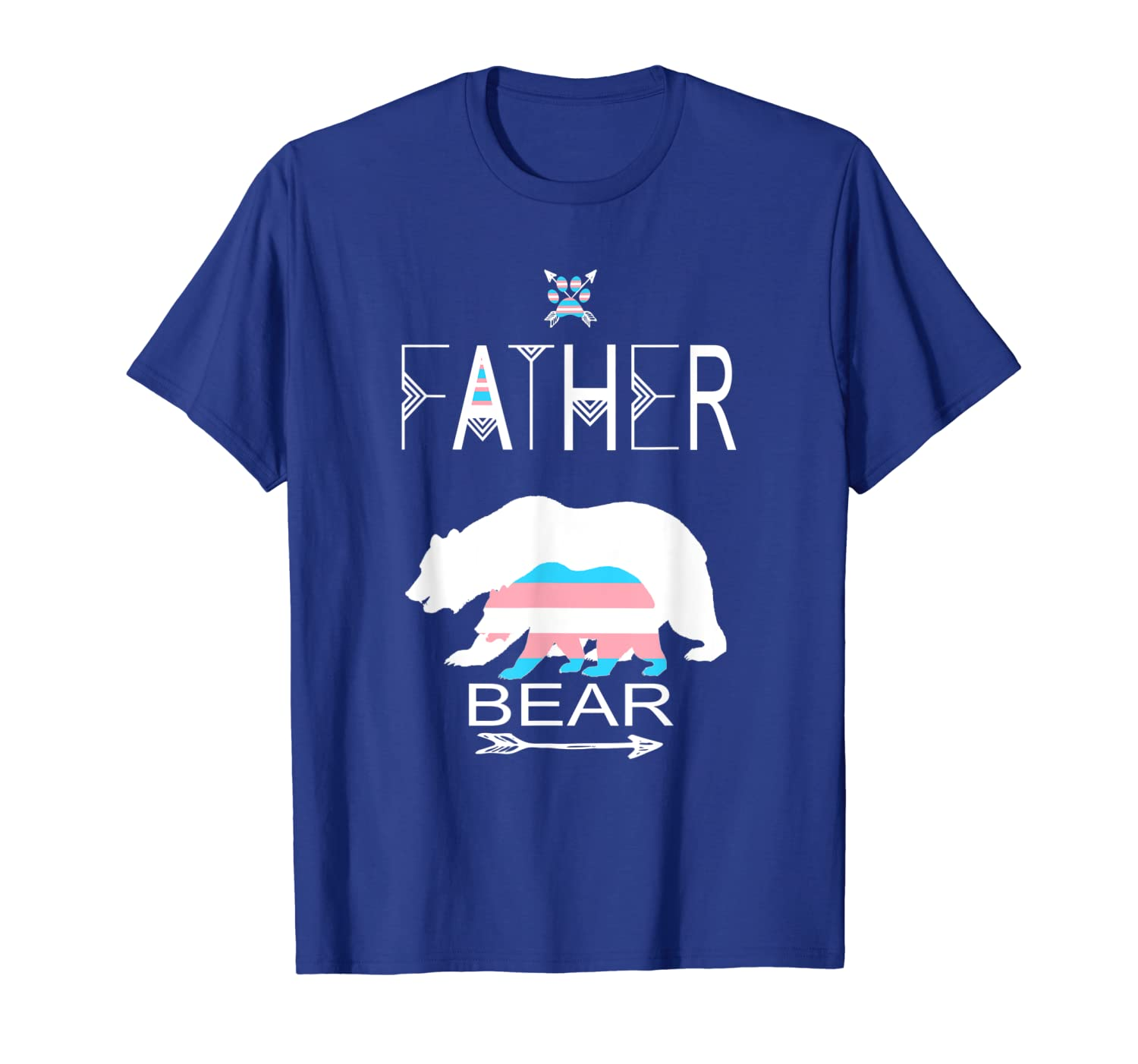 Transgender Father Bear For Dads Of A Trans Child Cool T-Shirt Unisex Tshirt
